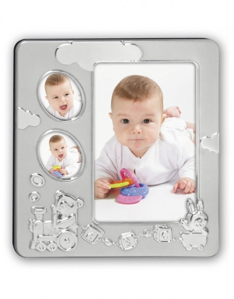 baby photo frame THOMAS silver