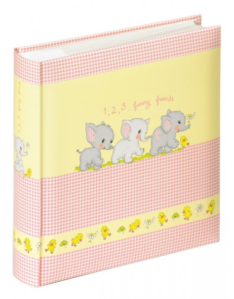 Pocket photo album FUNNY FRIENDS - pink, 200 photos