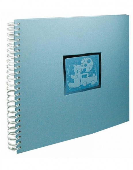 spiral bound baby album Teddy blue