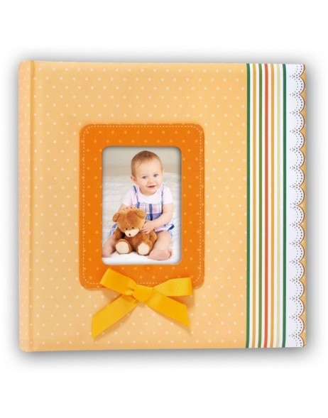 Babyalbum Ribbon Orange 24x24 cm