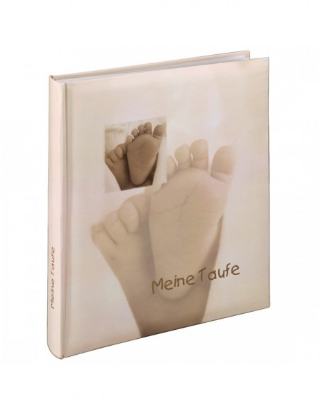 Baby Feel Baptism Bookb. Album, 29x32 cm, 60 white pages, text on 2 pages