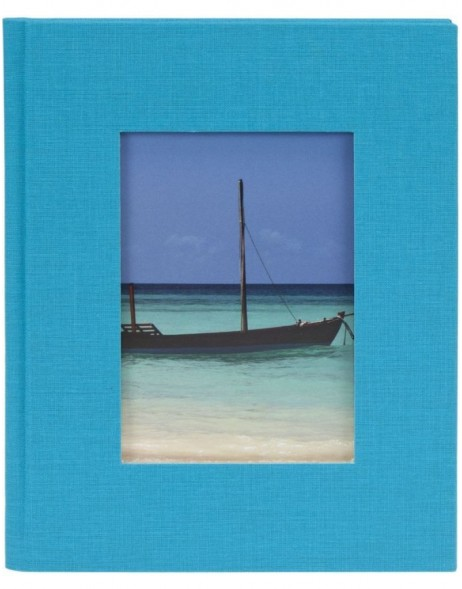 mini photo album BELLA VISTA turquoise for 12 photos