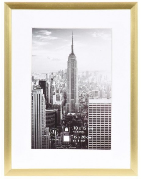 Bilderrahmen Manhattan Aluminium 15x20 cm in gold
