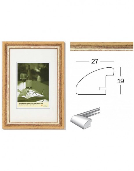 Picture frame Torino gold