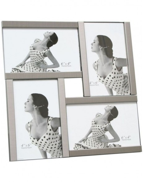 Picture Frames silver 4 photos 10x15 cm S58MK4