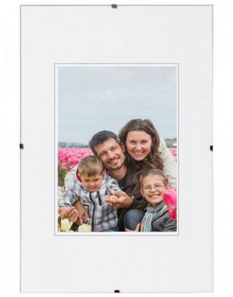 Frameless Picture Holder Normal glass and antireflective 10x15 cm - 40x60 cm