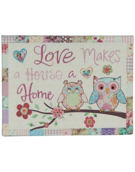 OWLS tin-plate colourful - 6Y1581 Clayre Eef