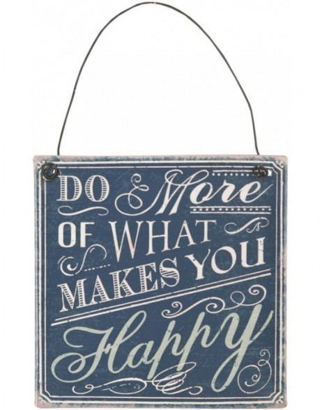 HAPPY tin-plate black - 6Y1328 Clayre Eef