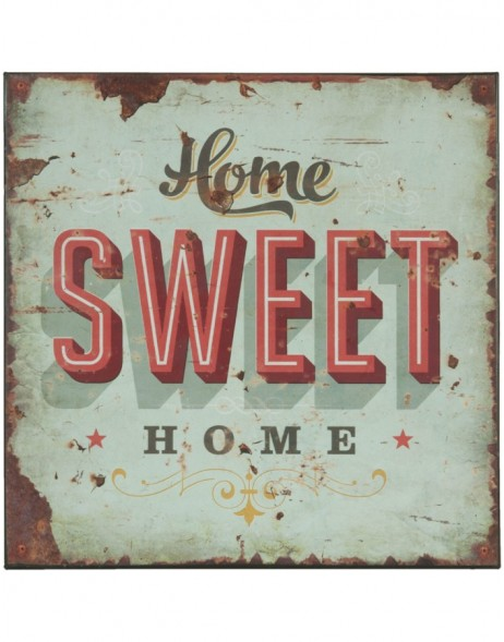 tin-plate HOME SWEET HOME colourful - 6Y1366 Clayre Eef