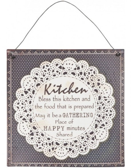 tin-plate KITCHEN grey/white - 6Y1319 Clayre Eef