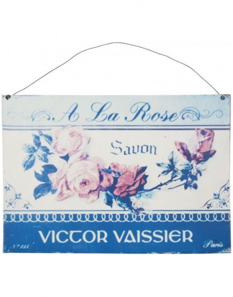 ROSE tin-plate blue - 6Y1437 Clayre Eef