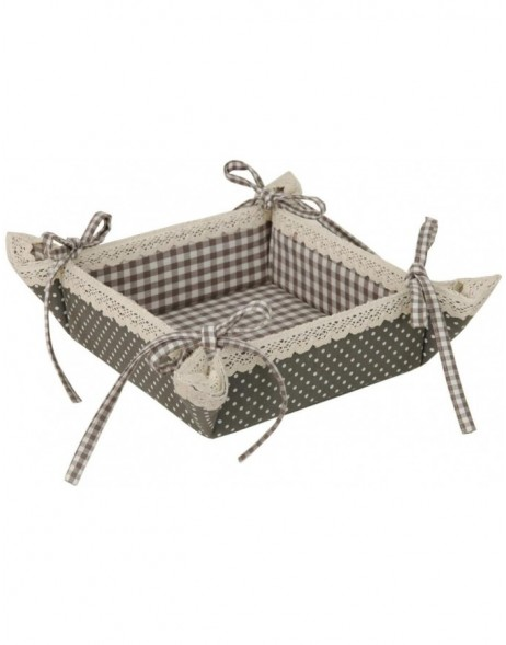 Brotk�rbchen FLOWER BASKET grau