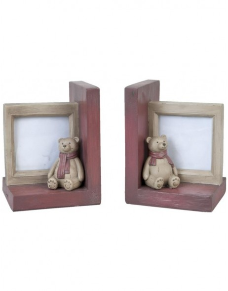 Bookend with photo frame 12x11x15 cm