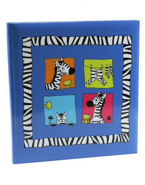 CRAZY ANIMALS Kinder Fotoalbum in blau