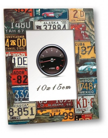 Cadillac wooden photo frame 10x15 cm and 13x18 cm