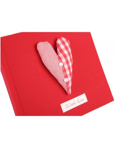 Clayre & Eef 6PA0027R Einsteckalbum WITH LOVE in rot 100 Fotos 10x15 cm