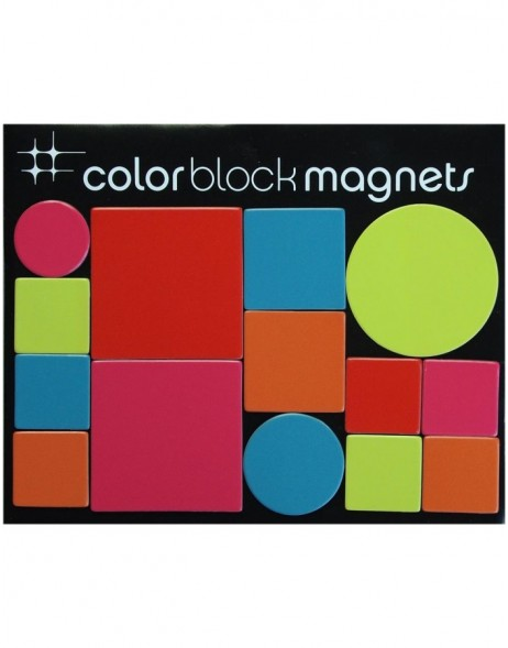 Color BLOCK Vinylmagnete Mix 14 Stück
