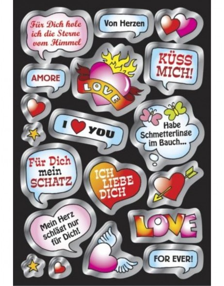 Creative speech balloon love - silber embossing