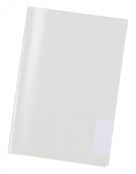 Exercise book cover PP A5 transparent/colourless