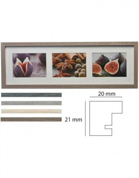 Deco Gallery Frame 3 photos 10x15 / 13x18 cm