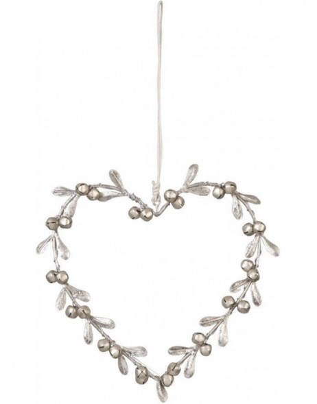 decoration pendant HEART silver - 6Y1307 Clayre Eef