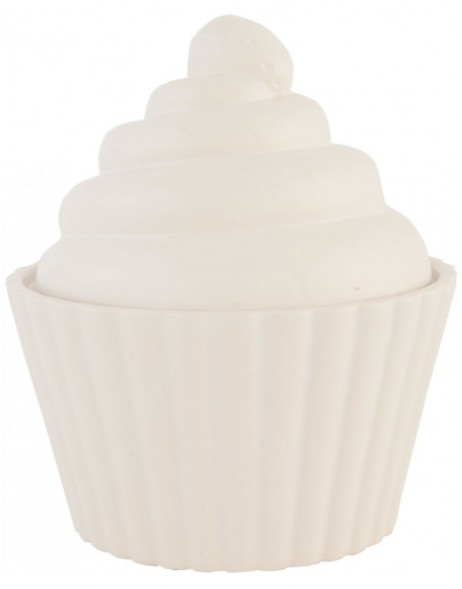 Decorative cupcake tin Ø 18x21 cm white