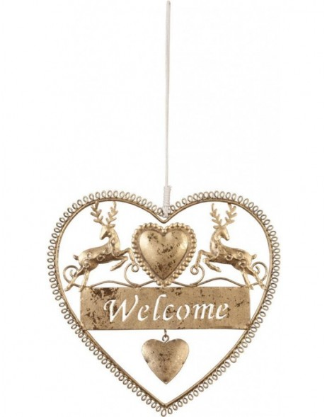 pendant Welcome - gold 18x19 cm