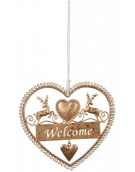 pendant Welcome - gold 14x15 cm