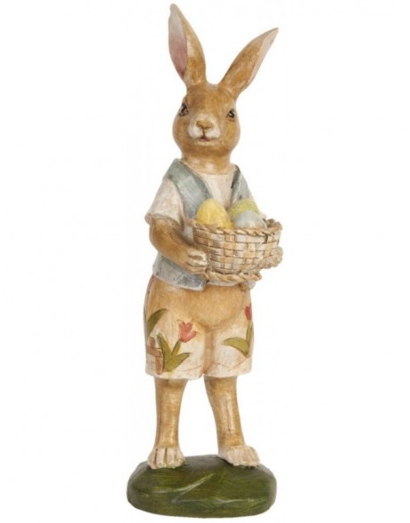 deco rabbit brown - 62714 Clayre Eef
