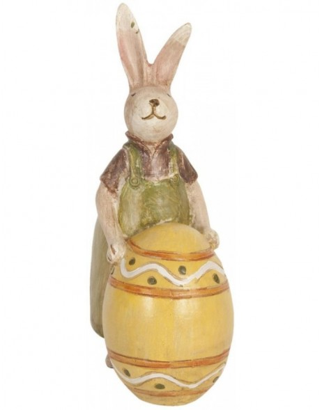 deco rabbit yellow - 62705 Clayre Eef