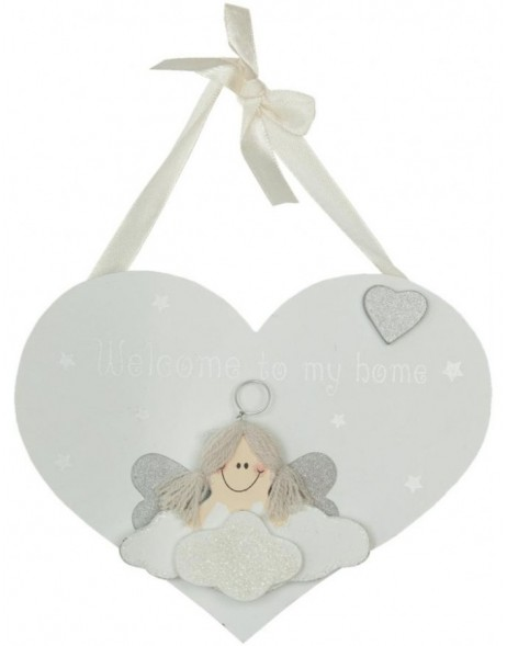 deco heart white - 6H0856 Clayre Eef