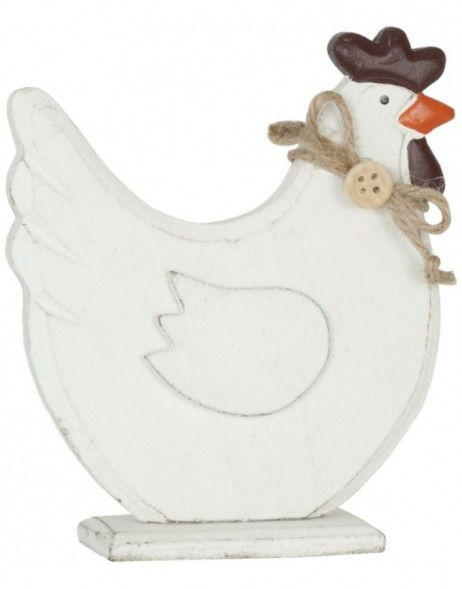 deco chicken white - 6H0820 Clayre Eef