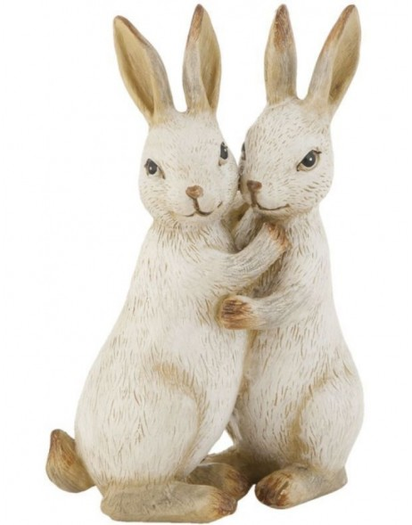 Rabbit decoration 12 cm poly resin