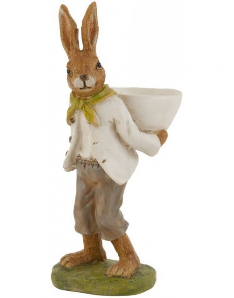 Rabbit decoration 16 cm poly resin