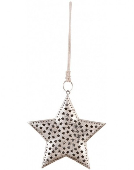decoration pendant silver - 6Y1302 Clayre Eef