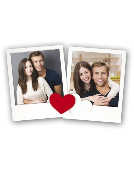 Double frame Irina heart 2 photos 10x10 cm