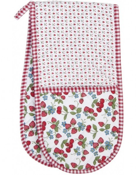 Doppelter Ofenhandschuh 20x80 cm - Strawberries and Cherries