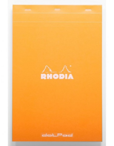 DotPad Block Rhodia, A4 + 21 x 31.8 cm, 80 sheets, Dot Grid Orange