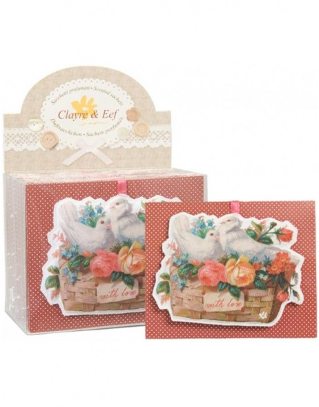 Duftbeutel WITH LOVE 15x12 cm Rose