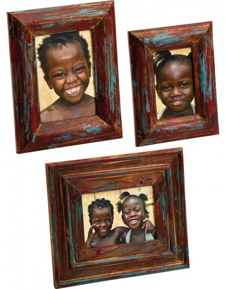 Ethno wooden frame Sapeli 10x15 cm and 13x18 cm