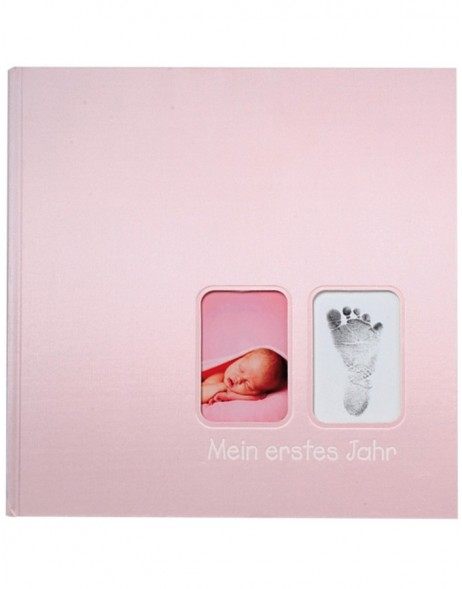 First Steps baby album in pink