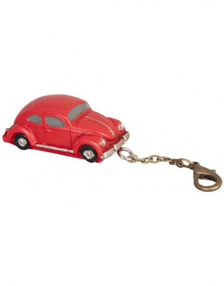 CAR 5x2 cm key chain red