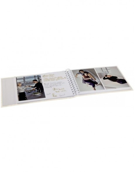 Idyll Photo and Guest Album, 25x19 cm, 40 white pages, cream