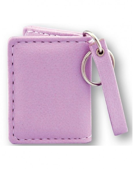 Leatherette purple key ring