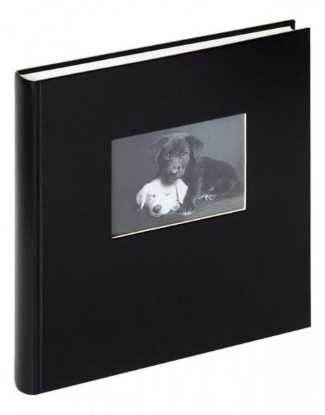 Walther fotoalbum charm 30x30 cm schwarz mit fenster for Fenster 30x30
