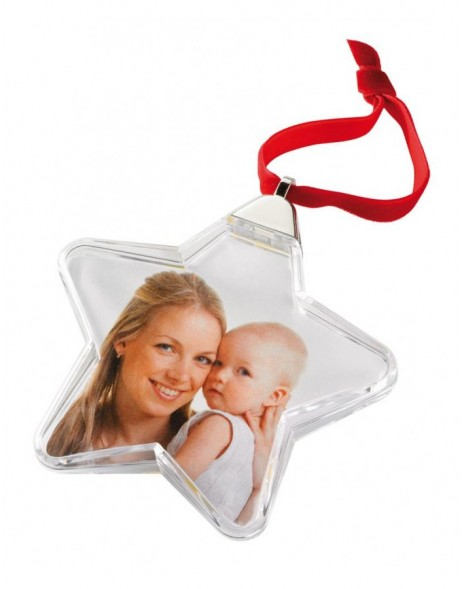 Christmas gift - star pendant for pictures 3x3.5
