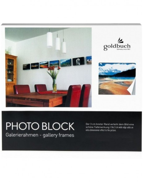 photo block white 30x30 cm