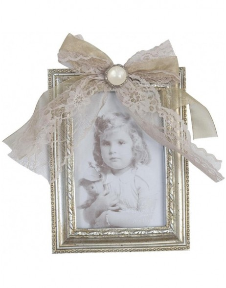 Photo Frame 10 x 15 cm with bow and brooch