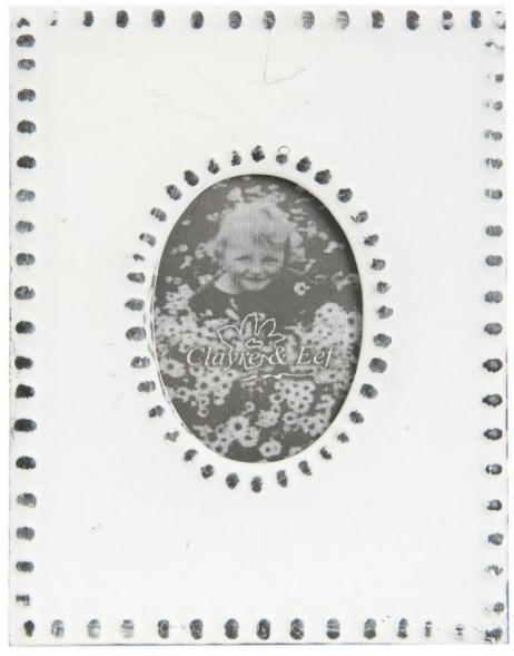 Photo Frame oval white 13x10 cm
