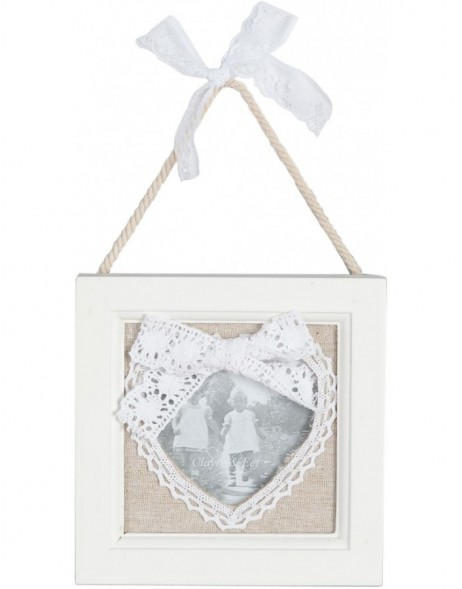 Photo frame 13x13 cm heart shape